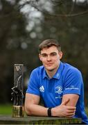 21 January 2021; Ireland and Leinster Centre Garry Ringrose who was today named Guinness Rugby Writers of Ireland Men's Player of The Year, acknowledging an impressive and consistent 2019/2020 season for both club and country. Ringrose was one of the brightest sparks during Ireland's Rugby World Cup journey in Japan and brought his form home with him as Leinster went unbeaten in last season's Guinness PRO14. Photo by Ramsey Cardy/Sportsfile