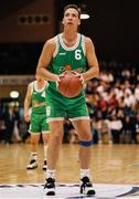 8 June 1994; Frank Powell of Ireland during the 1994 Promotions Cup Final match between Ireland and Cyprus at the National Basketball Arena in Tallaght, Dublin. Photo by Ray McManus/Sportsfile