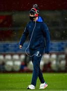 23 January 2021; Jonathan Sexton of Leinster walks the pitch as snow falls prior to the Guinness PRO14 match between Munster and Leinster at Thomond Park in Limerick. Photo by Eóin Noonan/Sportsfile Photo by Eóin Noonan/Sportsfile