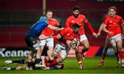 23 January 2021; Peter O'Mahony of Munster is tackled by Garry Ringrose of Leinster during the Guinness PRO14 match between Munster and Leinster at Thomond Park in Limerick. Photo by Ramsey Cardy/Sportsfile