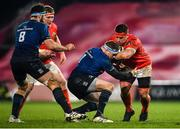 23 January 2021; CJ Stander of Munster is tackled by Seán Cronin of Leinster during the Guinness PRO14 match between Munster and Leinster at Thomond Park in Limerick. Photo by Eóin Noonan/Sportsfile