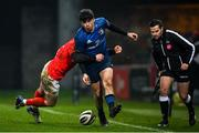 23 January 2021; Jimmy O'Brien of Leinster is tackled by Keith Earls of Munster during the Guinness PRO14 match between Munster and Leinster at Thomond Park in Limerick. Photo by Ramsey Cardy/Sportsfile