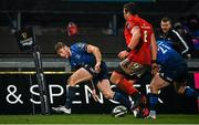 23 January 2021; Jordan Larmour of Leinster scores his side's first try during the Guinness PRO14 match between Munster and Leinster at Thomond Park in Limerick. Photo by Ramsey Cardy/Sportsfile