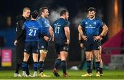 23 January 2021; Leinster players, from left, Jonathan Sexton, Jamison Gibson-Park, Jack Conan, Ed Byrne and Robbie Henshaw after the Guinness PRO14 match between Munster and Leinster at Thomond Park in Limerick. Photo by Eóin Noonan/Sportsfile