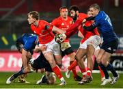 23 January 2021; Mike Haley of Munster is tackled by James Ryan of Leinster during the Guinness PRO14 match between Munster and Leinster at Thomond Park in Limerick. Photo by Ramsey Cardy/Sportsfile