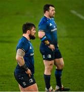 23 January 2021; Andrew Porter, left, and Cian Healy of Leinster during the Guinness PRO14 match between Munster and Leinster at Thomond Park in Limerick. Photo by Ramsey Cardy/Sportsfile