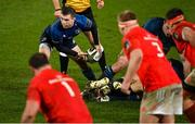 23 January 2021; Luke McGrath of Leinster during the Guinness PRO14 match between Munster and Leinster at Thomond Park in Limerick. Photo by Ramsey Cardy/Sportsfile