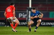 23 January 2021; Hugo Keenan of Leinster in action against Niall Scannell of Munster during the Guinness PRO14 match between Munster and Leinster at Thomond Park in Limerick. Photo by Ramsey Cardy/Sportsfile