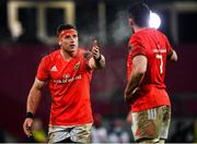 23 January 2021; CJ Stander, left, and Peter O'Mahony of Munster during the Guinness PRO14 match between Munster and Leinster at Thomond Park in Limerick. Photo by Eóin Noonan/Sportsfile