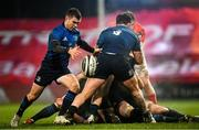 23 January 2021; Luke McGrath of Leinster during the Guinness PRO14 match between Munster and Leinster at Thomond Park in Limerick. Photo by Eóin Noonan/Sportsfile