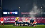 23 January 2021; Both teams contest a scrum during the Guinness PRO14 match between Munster and Leinster at Thomond Park in Limerick. Photo by Eóin Noonan/Sportsfile