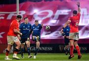 23 January 2021; Jonathan Sexton of Leinster during the Guinness PRO14 match between Munster and Leinster at Thomond Park in Limerick. Photo by Eóin Noonan/Sportsfile