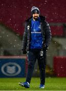 23 January 2021; Leinster Senior Athletic Performance coach Cillian Reardon during the Guinness PRO14 match between Munster and Leinster at Thomond Park in Limerick. Photo by Eóin Noonan/Sportsfile