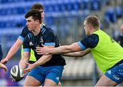25 January 2021; Dan Sheehan, left, and Dan Leavy during Leinster Rugby squad training at Energia Park in Dublin. Photo by Ramsey Cardy/Sportsfile