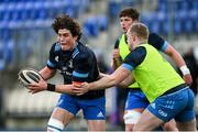 25 January 2021; Alex Soroka, left, and Dan Leavy during Leinster Rugby squad training at Energia Park in Dublin. Photo by Ramsey Cardy/Sportsfile