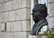 25 January 2021; Bust of the former IOC President, Lord Killanin, at Olympic House in Howth, Dublin, home of The Olympic Council of Ireland. Photo by Seb Daly/Sportsfile
