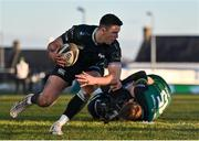 24 January 2021; Owen Watkin of Ospreys during the Guinness PRO14 match between Connacht and Ospreys at The Sportsground in Galway. Photo by Brendan Moran/Sportsfile