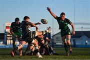 24 January 2021; Rhys Webb of Ospreys in action against Gavin Thornbury of Connacht during the Guinness PRO14 match between Connacht and Ospreys at The Sportsground in Galway. Photo by Brendan Moran/Sportsfile