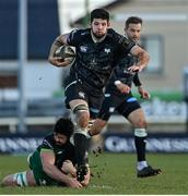24 January 2021; Rhys Davies of Ospreys is tackled by Paul Boyle of Connacht during the Guinness PRO14 match between Connacht and Ospreys at The Sportsground in Galway. Photo by Brendan Moran/Sportsfile