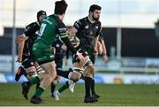 24 January 2021; Rhys Davies of Ospreys during the Guinness PRO14 match between Connacht and Ospreys at The Sportsground in Galway. Photo by Brendan Moran/Sportsfile