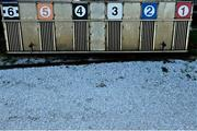 24 January 2021; Frost on the dog track surrounding the pitch prior to the Guinness PRO14 match between Connacht and Ospreys at The Sportsground in Galway. Photo by Brendan Moran/Sportsfile