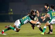 30 January 2021; Darren Sweetnam of Munster is tackled by Ignacio Brex of Benetton during the Guinness PRO14 match between Benetton and Munster at Stadio Monigo in Treviso, Italy. Photo by Roberto Bregani/Sportsfile