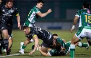 30 January 2021; Liam Coombes of Munster is tackled by Tomas Baravalle of Benetton Rugby during the Guinness PRO14 match between Benetton and Munster at Stadio Monigo in Treviso, Italy. Photo by Roberto Bregani/Sportsfile