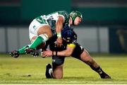 30 January 2021; Josh Wycherley of Munster tackles Marco Riccioni of Benetton Rugby during the Guinness PRO14 match between Benetton and Munster at Stadio Monigo in Treviso, Italy. Photo by Roberto Bregani/Sportsfile