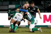 30 January 2021; Jeremy Loughman of Munster is tackled during the Guinness PRO14 match between Benetton and Munster at Stadio Monigo in Treviso, Italy. Photo by Roberto Bregani/Sportsfile