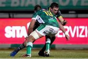 30 January 2021; Tommy O'Donnell of Munster takes on Eli Snyman of Benetton during the Guinness PRO14 match between Benetton and Munster at Stadio Monigo in Treviso, Italy. Photo by Roberto Bregani/Sportsfile