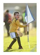 """26 January 2020; All hands to the pump. Finnóg McGarry, a son of Nowlan Park groundsman Kevin, helps to collect the sideline flags after the match. Photo by Ray McManus/Sportsfile This image may be reproduced free of charge when used in conjunction with a review of the book """"A Season of Sundays 2020"""". All other usage © Sportsfile"""