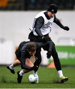 2 February 2021; Will Patching, left, and Ole Erik Midtskogen during a Dundalk Pre-Season training session at Oriel Park in Dundalk, Louth. Photo by Ben McShane/Sportsfile