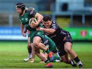5 February 2021; Jonny Murphy of Connacht is tackled by Chris Coleman of Dragons during the Guinness PRO14 match between Dragons and Connacht at Rodney Parade in Newport, Wales. Photo by Mark Lewis/Sportsfile