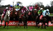6 February 2021; Runners and riders jump the first fence during the Matheson Handicap Steeplechase on day 1 of the Dublin Racing Festival at Leopardstown Racecourse in Dublin. Photo by Harry Murphy/Sportsfile