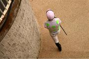 6 February 2021; Jockey Paul Townend walks out ahead of the Chanelle Pharma Irish Champion Hurdle on day 1 of the Dublin Racing Festival at Leopardstown Racecourse in Dublin. Photo by Harry Murphy/Sportsfile