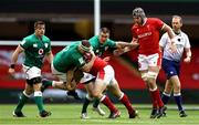 7 February 2021; Rob Herring of Ireland is tackled by Ken Owens of Wales during the Guinness Six Nations Rugby Championship match between Wales and Ireland at the Principality Stadium in Cardiff, Wales. Photo by Chris Fairweather/Sportsfile