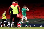7 February 2021; Peter O'Mahony of Ireland leaves the pitch after being shown a red card during the Guinness Six Nations Rugby Championship match between Wales and Ireland at the Principality Stadium in Cardiff, Wales. Photo by Chris Fairweather/Sportsfile