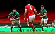 7 February 2021; Cian Healy of Ireland in action against Adam Beard of Wales during the Guinness Six Nations Rugby Championship match between Wales and Ireland at the Principality Stadium in Cardiff, Wales. Photo by Chris Fairweather/Sportsfile