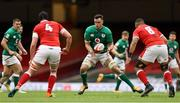 7 February 2021; James Ryan of Ireland in action against Adam Beard and Taulupe Faletau of Wales during the Guinness Six Nations Rugby Championship match between Wales and Ireland at the Principality Stadium in Cardiff, Wales. Photo by Chris Fairweather/Sportsfile