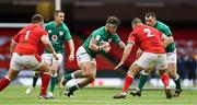 7 February 2021; Andrew Porter of Ireland in action against Wyn Jones and Ken Owens of Wales during the Guinness Six Nations Rugby Championship match between Wales and Ireland at the Principality Stadium in Cardiff, Wales. Photo by Chris Fairweather/Sportsfile