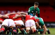 7 February 2021; Conor Murray of Ireland during the Guinness Six Nations Rugby Championship match between Wales and Ireland at the Principality Stadium in Cardiff, Wales. Photo by Chris Fairweather/Sportsfile