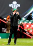 7 February 2021; Ireland forwards coach Paul O'Connell prior to the Guinness Six Nations Rugby Championship match between Wales and Ireland at the Principality Stadium in Cardiff, Wales. Photo by Gareth Everett/Sportsfile