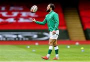 7 February 2021; Jamison Gibson-Park of Ireland prior to the Guinness Six Nations Rugby Championship match between Wales and Ireland at the Principality Stadium in Cardiff, Wales. Photo by Gareth Everett/Sportsfile