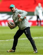 7 February 2021; Ireland assistant coach Mike Catt prior to the Guinness Six Nations Rugby Championship match between Wales and Ireland at the Principality Stadium in Cardiff, Wales. Photo by Gareth Everett/Sportsfile