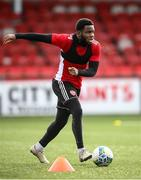 8 February 2021; James Akintunde during a Derry City pre-season training session at the Ryan McBride Brandywell Stadium in Derry. Photo by Stephen McCarthy/Sportsfile