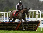 6 February 2021; Dommage Pour Toi, with Robbie Power up, jumps the last during the Ladbrokes Hurdle (Extended Handicap Hurdle) on day 1 of the Dublin Racing Festival at Leopardstown Racecourse in Dublin. Photo by Harry Murphy/Sportsfile