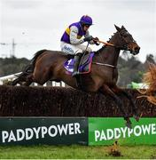 7 February 2021; Latest Exhibition, with Bryan Cooper up, during the Flogas Novice Steeplechase on day two of the Dublin Racing Festival at Leopardstown Racecourse in Dublin. Photo by Seb Daly/Sportsfile