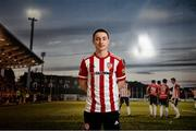 10 February 2021; Derry City unveil new loan signing Joe Hodge at their training facility in Elagh Busniess Park, Derry. Photo by Stephen McCarthy/Sportsfile
