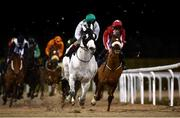 12 February 2021; Togoville, second from right, with Conor McGovern up, leads the field, including Porterinthejungle, right, with Luke McAteer up, during the Dundalkstadium.com Apprentice Handicap (Div 2) at Dundalk Racecourse in Louth. Photo by Harry Murphy/Sportsfile