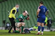 14 February 2021; Cian Healy of Ireland leaves the pitch with a blood injury during the Guinness Six Nations Rugby Championship match between Ireland and France at the Aviva Stadium in Dublin. Photo by Brendan Moran/Sportsfile